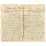 Papel Telegrafico Savoy Hotel Santiago Del Estero 1959