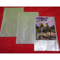 Saco Plástico P/ Gibis Tex Zagor Ken Parker - Kit C/ 100