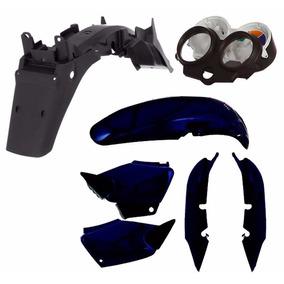 Kit Carenagem Plástico P/ Cg 125 Titan 125 Ano 2001 - Azul