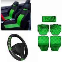 Monza Kit Capa Banco+capa De Volante+jogo Tapetes Verde