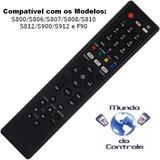 Controle Remoto Lexuzbox. F90. Hd / Azamerc S912/s900/ .....