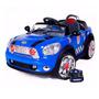 Mini Cooper Conversível Controle Remoto Mp3 Azul Bel 912400