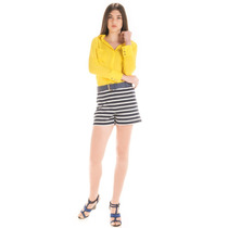 Camisa Feminina Social Amarela Principessa Katiuce