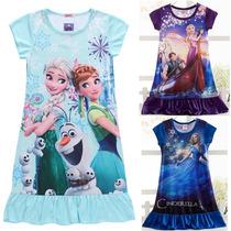 Camisola Pijamas Princesas Disney Rapunzel, Sofia,frozen !
