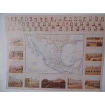 Mapa De Mexico 1885 Carta Politica