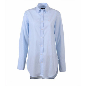 Camisa Brooksfield Mujer Moda Algodón Rayada Bm03522z C1ce