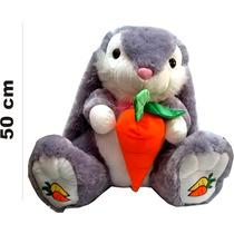 Peluche Coneja Sentada Con Zanahoria Gigante 50 Cm Apro 8026