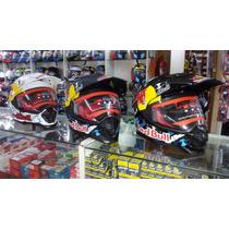 Capacete Helmet Cross Trilha Red Bull Mrc Black Friday
