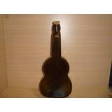Botella Vidrio Forma De Guitarra 750cc. Con Corcho Incluido
