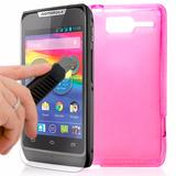 Kit Capa + Película Vidro Motorola Razr D1 Dual Premium Case