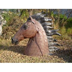Escultura Cabeza De Caballo Monumental