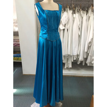 Vestido De 15 Años Azul Corset Y Falda Egreso