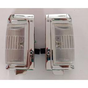 Lanterna Dianteira Aro Crom Nissan Pathfinder Até 95 - Par