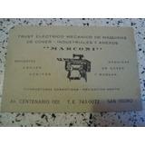 Tarjeta Marconi Mecánico De Maquinas De Coser Repuestos Aguj