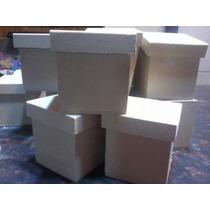Cajitas Fibrofacil 7x7x7 Sin Pintar X 10 Unidades