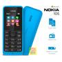 Celular Simples Barato Nokia 105 Dual Chip Radio Fm Azul