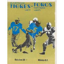 Futbol Americano Programa 1977 Tigres Vs Chapingo