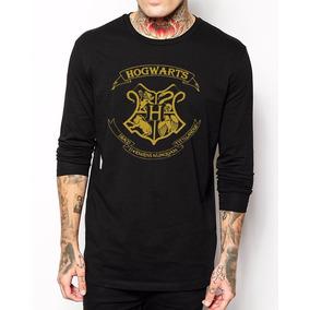 Camiseta Manga Longa Hogwarts Harry Potter
