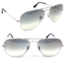 ray ban 55mm aviator  Ray Ban Aviator Rb 3025 003/32 Silver (55mm) Grey Gradient ...