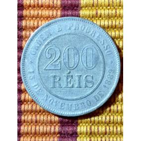 Moeda 200 Réis 1889 - Lfcosta