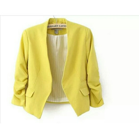 Blazer Disponible Solo Amarilo, Tallas S Y M