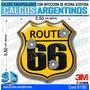 Calcomanias, Stickers, Domes Resinados 3d Escudo Route 66