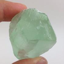 Fluorita Cristal Bruto Verde Extra Pedra Natural 102g
