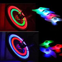Luz Led Para Rayos De Llantas De Bicicleta Seguridad Colores