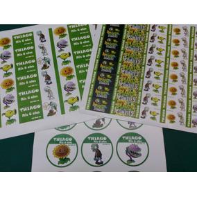 Stickers Candy Bar Etiquetas Troqueladas Personalizadas