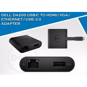 Da200 Adaptador Dell De Usb-c A Hdmi/vga Sin Empaque Carton