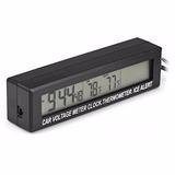 3 En 1 Reloj Voltimetro Termometro 12v Carro Medidor Digital