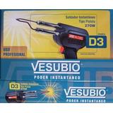 Soldador Vesubio D3 270w De Estaño Tipo Pistola Profesional