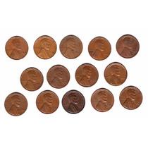 Usa Lote 14 Monedas 1 Cent Lincoln 1940 A 1958 Oferta!!!!! 2
