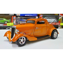 1:18 Ford Coupe 1934 High Tech Naranja Ertl American Muscle