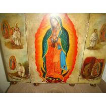 Óleo Tríptico - Retablo- Virgen De Guadalupe