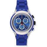 Swatch Yys4017ag Irony Xlite Blue Attack Hombre Reloj