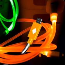 50 Cables Micro Usb V8 Luminoso Celular Tablet Luz Cargador