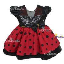 Vestido De Festa Infantil Bebê Minnie Baby Disney- Promoção!