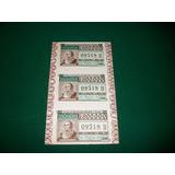 Justo Jose De Urquiza . 3 Billetes De Loteria . 1964 ..