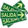 Cartel Salida Fotoluminicente 14 X 41 Cnt Pack De 20 Unid $