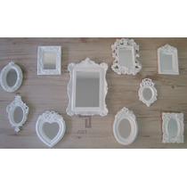 Kit 10 Molduras Resina Espelho Candy Colors/ Dourado....