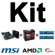 Kit Msi A88xm-e45 V2 + Amd A10-7860k + Mem. 16gb (2x8gb) 5*