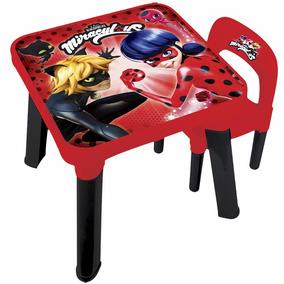 Mesa E Cadeira Infantil - Miraculous Ladybug - Fun