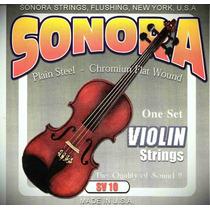 Set De Cuerdas Sonora Para Violin Sv10 Made In U.s.a