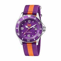 Reloj Ice Watch Polo Morado Y Naranja 43mm Po.poe.u.n.14