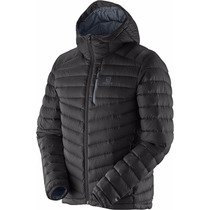 Campera Salomon Halo Hooded 2 Plumon Pluma Capucha Hombre