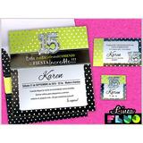 Invitaciones De 15 Color Fluor Tarjetas