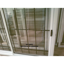 Ventana Aluminio Blanco Con Reja Y Mosquitero De 150x110