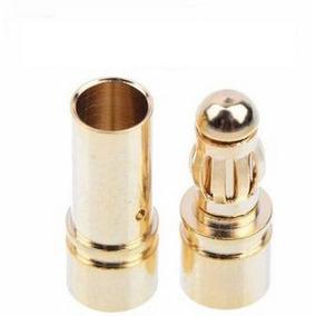Conector Plug Gold Banana Bullet 3.5mm 1 Par Gratis Termoret