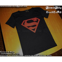 Remeras De Mujer Superman Man Of Steel Krypton 100% Algodón